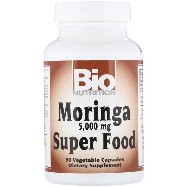 Moringa Super Food, 5,000 mg, 90 Vegetable Capsules