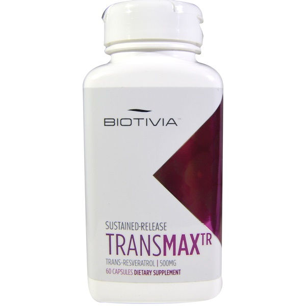 Biotivia, TransmaxTR, Trans-Resvératrol, 500 mg, 60 Capsules