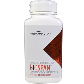 Biotivia, Biospan, 500 mg, 60 Capsules