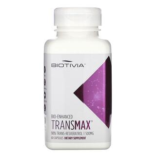 Biotivia, Transmax, 98% Trans-Resveratrol, 500 mg, 60 Capsules