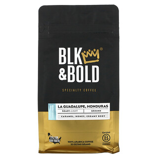 BLK & Bold, Specialty Coffee, Ground, Light, LA Guadalupe, Honduras, 12 oz (340 g)