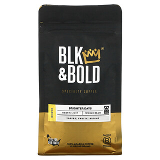 BLK & Bold, Specialty Coffee, Whole Bean, Light, Brighter Days, 12 oz (340 g)