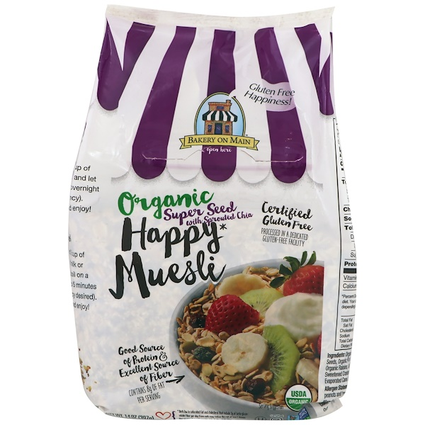 Bakery On Main, Organic, Happy Muesli, Super Seed With Sprouted Chia, 14 oz (397 g) (Discontinued Item)