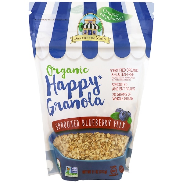 Bakery On Main, Organic, Happy Granola, Sprouted Blueberry Flax, 11 oz (312 g) (Discontinued Item)