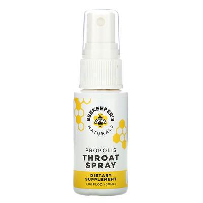 Купить Beekeeper's Naturals Propolis Throat Spray, 1.06 fl oz (30 ml)