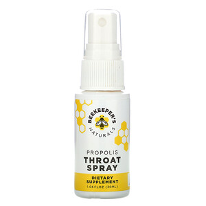 Beekeeper's Naturals, Propolis Throat Spray, 1.06 fl oz (30 ml)'