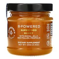 Beekeeper's Naturals, B.Powered SUPER FOOD 蜂蜜,4.4 盎司(125 克)