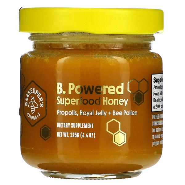 B. Powered, Superfood Honey, 4.4 oz (125 g)