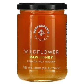 Beekeeper's Naturals, Raw Honey, Wildflower, 17.6 oz (500 g)