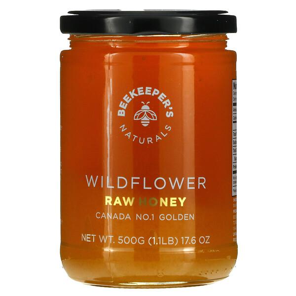 Raw Honey, Wildflower, 17.6 oz (500 g)