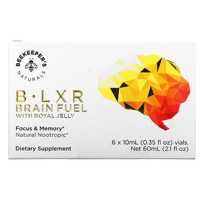 Купить Beekeeper's Naturals B. LXR Brain Fuel, 6 Vials, 0.35 fl oz (10 ml) Each
