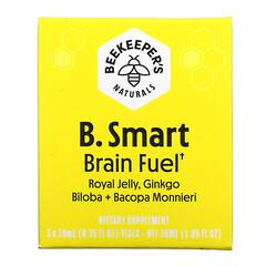 Beekeeper's Naturals, B. Smart 健腦口服液,3 小瓶,每瓶 0.35 液量盎司(10 毫升)