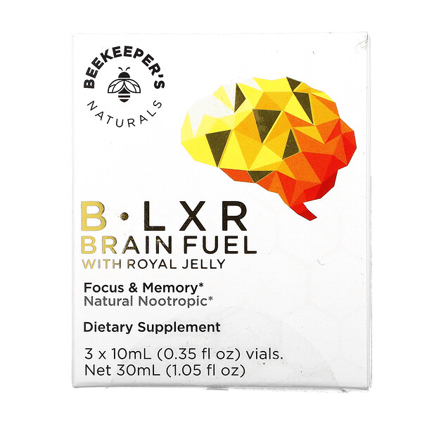 B. LXR Brain Fuel, 3 Vials, 0.35 fl oz  (10 ml) Each
