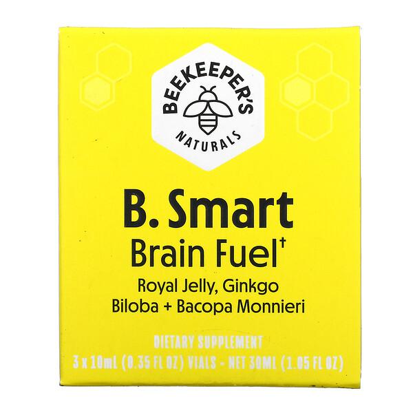 B. Smart Brain Fuel, 3 Vials, 0.35 fl oz (10 ml) Each