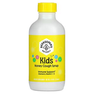 Beekeeper's Naturals, 儿童,蜂蜜咳嗽缓解糖浆,4 液量盎司(118 毫升)