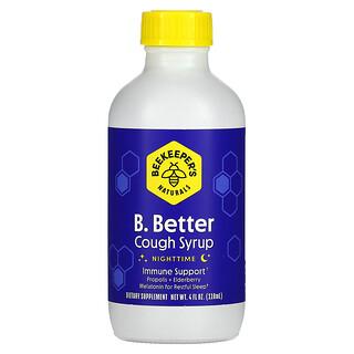 Beekeeper's Naturals, B. Better, Cough Syrup, Nighttime, 4 fl oz (118 ml)