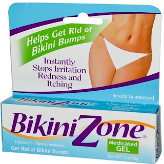 BikiniZone, Medicated Gel, 1 oz (28 g)