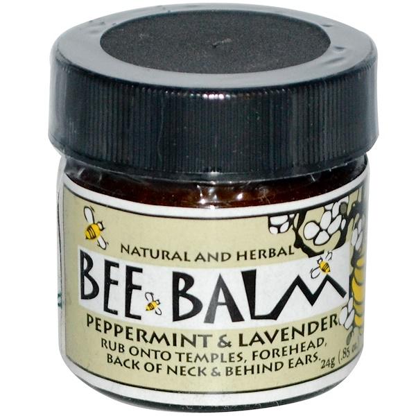 Black Hills Honey Farm, Bee Balm, Peppermint & Lavender, 0.85 oz (24 g) (Discontinued Item)