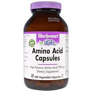 Bluebonnet Nutrition, アミノ酸カプセル、180ベジキャップ