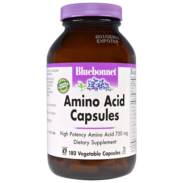 Amino Acid Capsules, 180 Vegetable Capsules