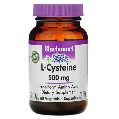 Купить Bluebonnet Nutrition L-цистеин, 500 мг, 60 растительных капсул