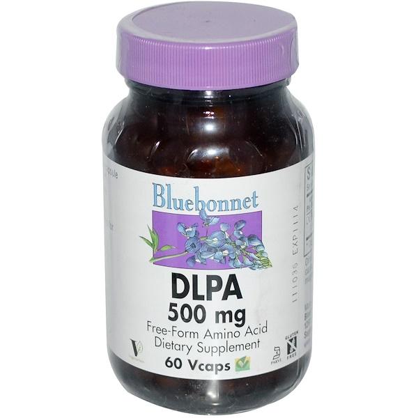 Bluebonnet Nutrition, DLPA, 500 mg, 60 Vcaps (Discontinued Item)