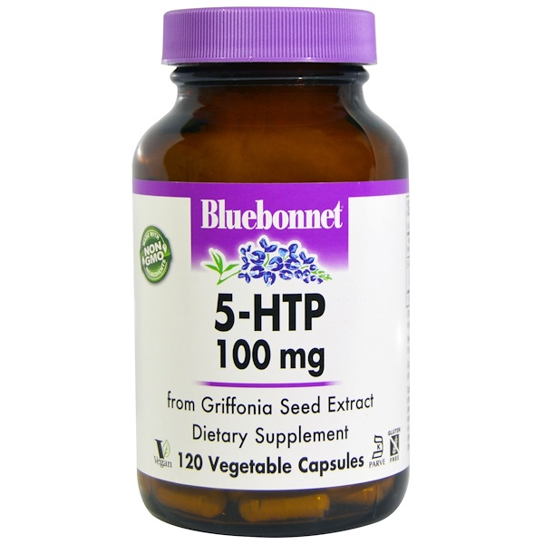 Bluebonnet Nutrition, 5-HTP、 100 mg、 120植物性カプセル (Discontinued Item)