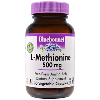 Bluebonnet Nutrition, L-Methionin, 500 mg, 30 Veggie-Kapseln