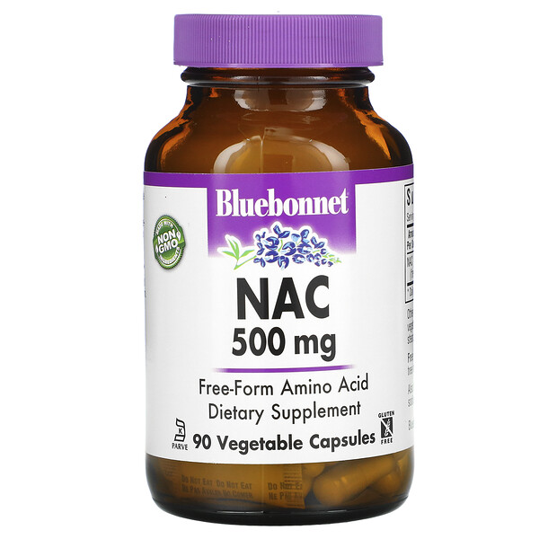 Bluebonnet Nutrition, NAC, 500 mg, 90 Vcaps