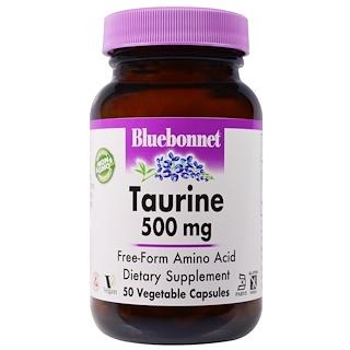 Bluebonnet Nutrition, タウリン、500 mg、50ベジカプセル