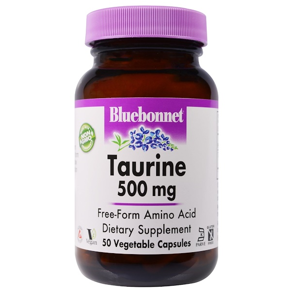 Bluebonnet Nutrition, Taurine, 500 mg, 50 Veggie Caps