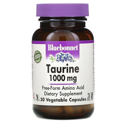 Bluebonnet Nutrition таурин, 1000мг, 50вегетарианских капсул