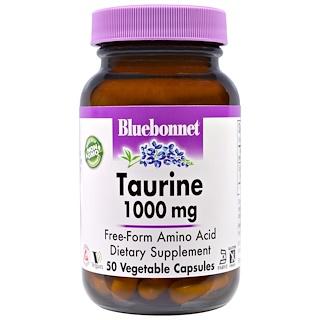 Bluebonnet Nutrition, タウリン、1,000 mg、50ベジキャップ