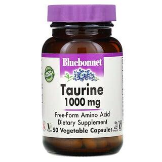 Bluebonnet Nutrition, Taurine, 1,000 mg, 50 Vegetable Capsules