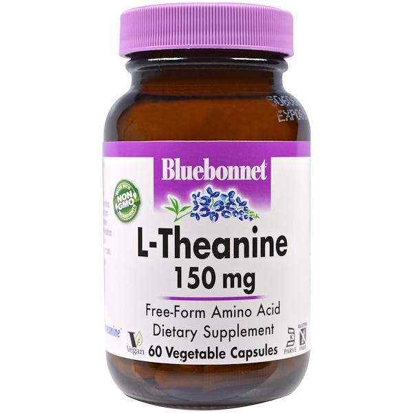 Bluebonnet Nutrition, L-Theanine, 150 mg, 60 Veggie Caps (Discontinued Item)