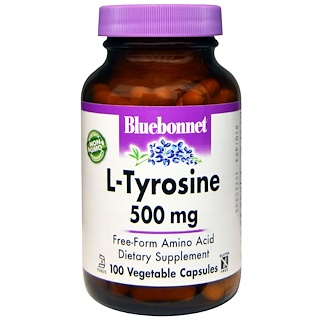 Bluebonnet Nutrition, L-Tyrosine, 500 mg, 100 Veggie Caps