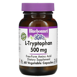 Bluebonnet Nutrition, L-Tryptophan, 500 mg, 60 Vegetable Capsules