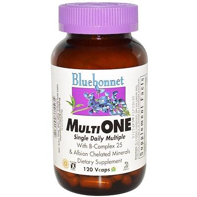 Мультивитамины Multi One, для ежедневного употребления, 120 растительных капсул недорого