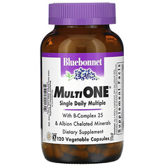 Bluebonnet Nutrition, MultiOne 每天一粒複合營養素食膠囊,120 粒裝