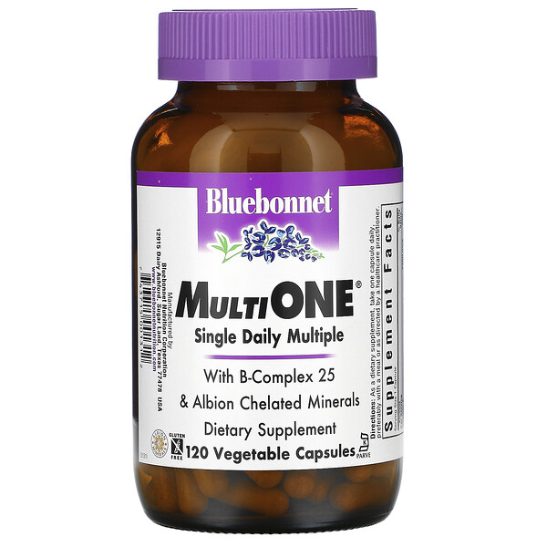 MultiOne, Single Daily Multiple, 120 Vegetable Capsules
