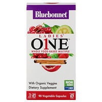 Bluebonnet Nutrition, Ladies' ONE, Whole Food-Based Multiple, 90 Vegetable Capsules