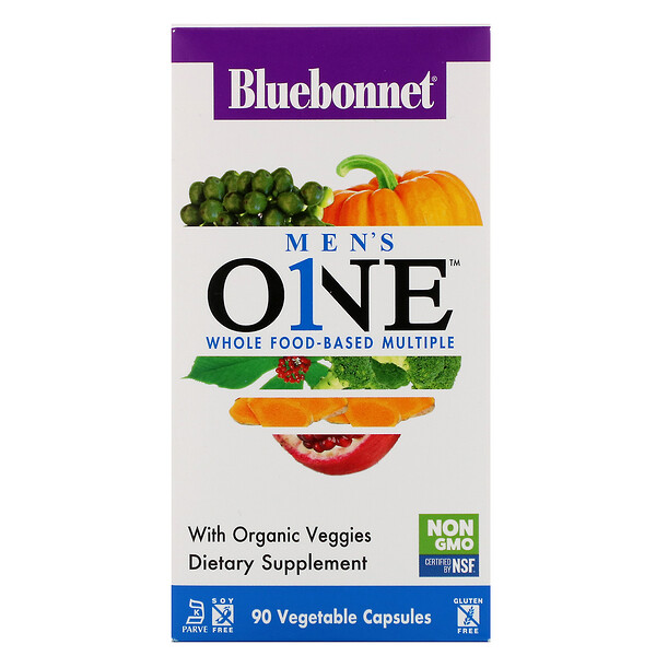 Men's ONE, Whole Food-Based Multiple, 90 Vegetable Capsules