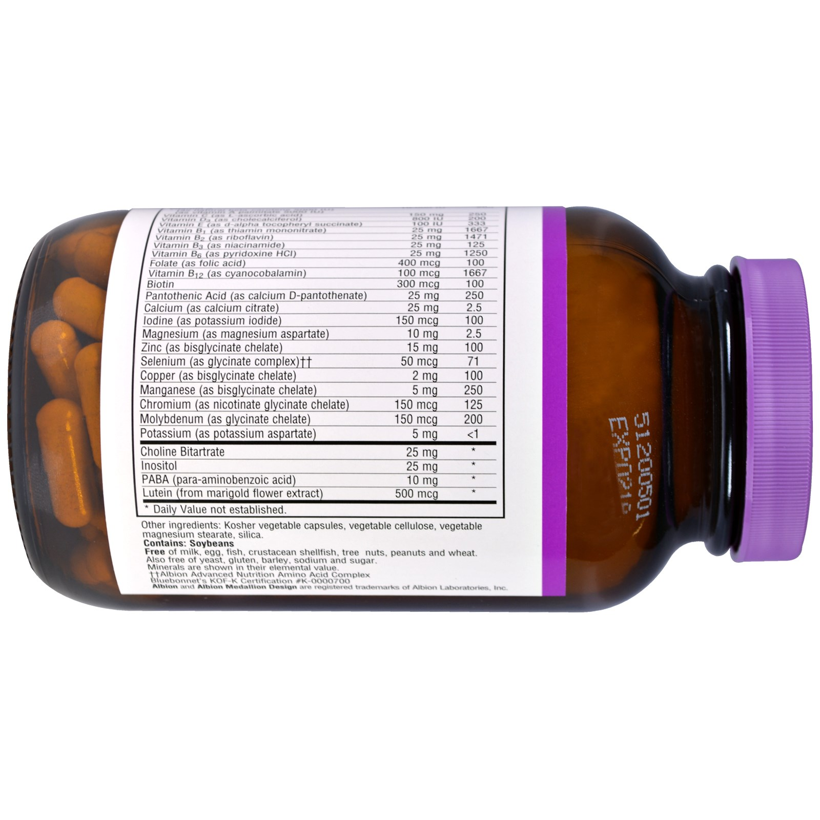 Bluebonnet Nutrition, Multi One, Single Daily Multiple, Iron-Free, 120  Veggie Caps
