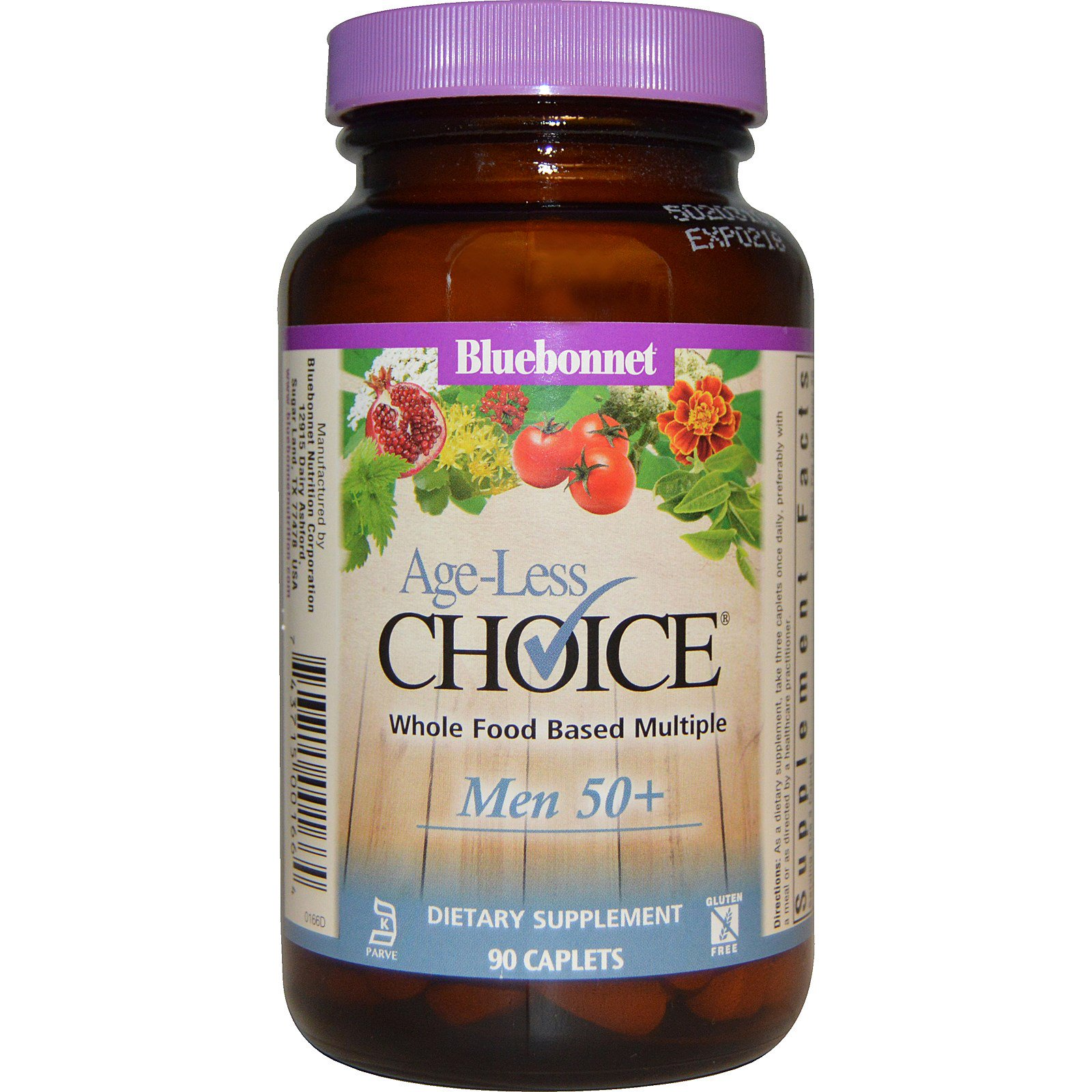 Bluebonnet Nutrition, Age-Less Choice, Whole Food Based Multiple, Men 50+, 90 Caplets (Discontinued Item)