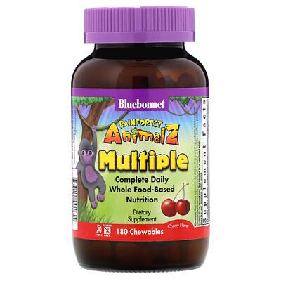Rainforest Animalz, Complete Daily, Multiple, Cherry Flavor, 180 Chewables