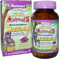 Тропические животные, мультивитамин на основе цельных продуктов, с натуральным вкусом винограда, 180 жевательных конфет - фото