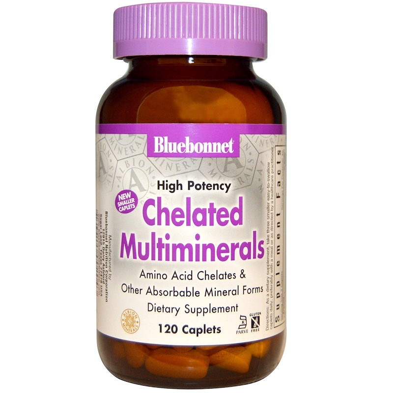 High Potency, Chelated Multiminerals, 120 Caplets