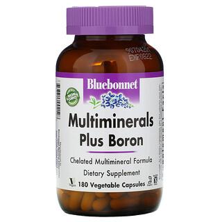 Bluebonnet Nutrition, معادن متعدده بالأضافه الى البورون ١٨٠كبسوله جيلاتينيه
