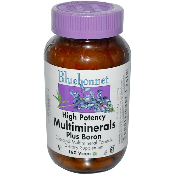 Bluebonnet Nutrition, Multiminerals, Plus Boron, 180 Vcaps