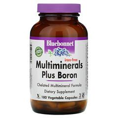 Bluebonnet Nutrition, 複合礦物質加硼,無鐵,180 粒素食膠囊